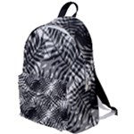Tropical leafs pattern, black and white jungle theme The Plain Backpack