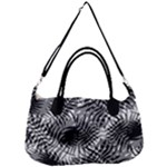 Tropical leafs pattern, black and white jungle theme Removal Strap Handbag
