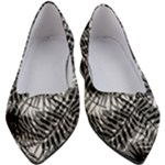 Tropical leafs pattern, black and white jungle theme Women s Block Heels