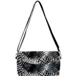 Tropical leafs pattern, black and white jungle theme Removable Strap Clutch Bag
