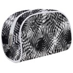 Tropical leafs pattern, black and white jungle theme Makeup Case (Medium)