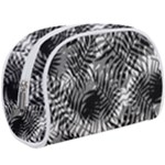 Tropical leafs pattern, black and white jungle theme Makeup Case (Large)