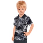 Tropical leafs pattern, black and white jungle theme Kids  Polo Tee