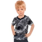 Tropical leafs pattern, black and white jungle theme Kids  Sports Tee