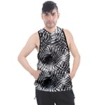 Tropical leafs pattern, black and white jungle theme Men s Sleeveless Hoodie