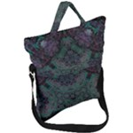 Mandala Corset Fold Over Handle Tote Bag