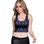 Mandala Cage Racer Back Crop Top