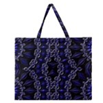 Mandala Cage Zipper Large Tote Bag
