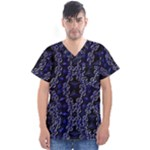 Mandala Cage Men s V-Neck Scrub Top