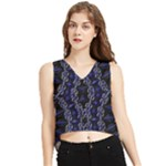 Mandala Cage V-Neck Cropped Tank Top