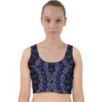 Mandala Cage Velvet Racer Back Crop Top