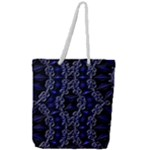 Mandala Cage Full Print Rope Handle Tote (Large)