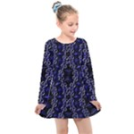 Mandala Cage Kids  Long Sleeve Dress