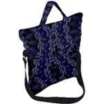 Mandala Cage Fold Over Handle Tote Bag