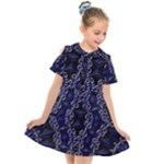 Mandala Cage Kids  Short Sleeve Shirt Dress