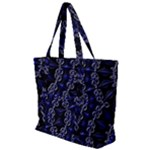 Mandala Cage Zip Up Canvas Bag