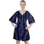 Mandala Cage Boho Button Up Dress