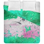 Crackling Green Duvet Cover Double Side (California King Size)