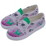 Crackling Green Kids  Canvas Slip Ons