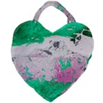 Crackling Green Giant Heart Shaped Tote