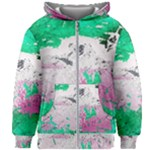 Crackling Green Kids  Zipper Hoodie Without Drawstring