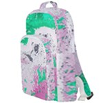 Crackling Green Double Compartment Backpack