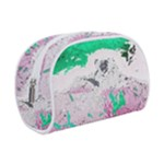 Crackling Green Makeup Case (Small)