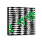 Houndstooth Leaf Mini Canvas 4  x 4  (Stretched)