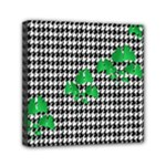 Houndstooth Leaf Mini Canvas 6  x 6  (Stretched)