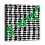 Houndstooth Leaf Mini Canvas 8  x 8  (Stretched)