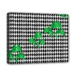 Houndstooth Leaf Canvas 10  x 8  (Stretched)