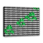Houndstooth Leaf Canvas 14  x 11  (Stretched)