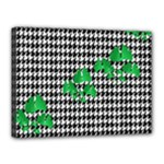 Houndstooth Leaf Canvas 16  x 12  (Stretched)