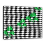 Houndstooth Leaf Canvas 20  x 16  (Stretched)
