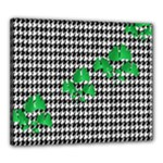 Houndstooth Leaf Canvas 24  x 20  (Stretched)