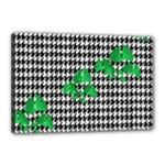 Houndstooth Leaf Canvas 18  x 12  (Stretched)