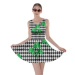 Houndstooth Leaf Skater Dress