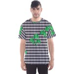 Houndstooth Leaf Men s Sport Mesh Tee