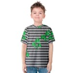 Houndstooth Leaf Kids  Cotton Tee