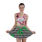 Houndstooth Leaf Mini Skirt