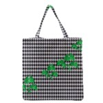 Houndstooth Leaf Grocery Tote Bag