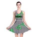Houndstooth Leaf Reversible Skater Dress