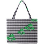 Houndstooth Leaf Mini Tote Bag