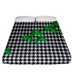 Houndstooth Leaf Fitted Sheet (Queen Size)