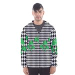 Houndstooth Leaf Men s Hooded Windbreaker