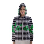 Houndstooth Leaf Women s Hooded Windbreaker