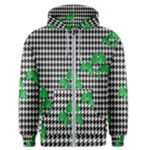 Houndstooth Leaf Men s Zipper Hoodie
