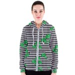 Houndstooth Leaf Women s Zipper Hoodie
