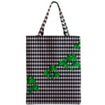 Houndstooth Leaf Zipper Classic Tote Bag