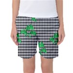 Houndstooth Leaf Women s Basketball Shorts